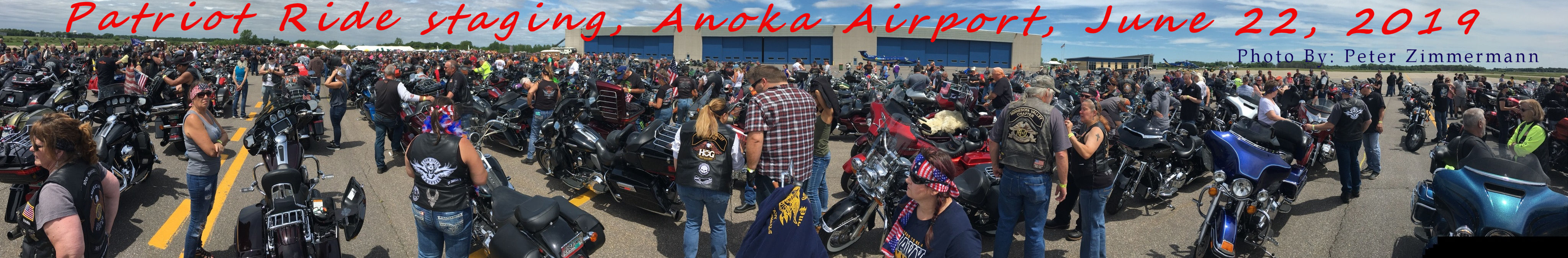 Patriot Ride Staging, Anoka Airport, June 22, 2019